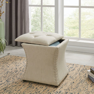 Amelia Nailhead Storage Ottoman by New Pacific Direct - 193619