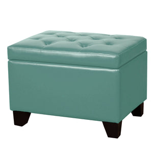 Julian Rectangular Bonded Leather Storage Ottoman by New Pacific Direct - 194424B