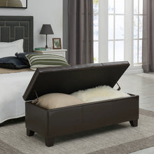 "Luisa 48"" Bonded Leather Storage Ottoman by New Pacific Direct - 194448B"