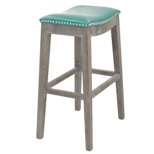 Elmo Bonded Leather Bar Stool by New Pacific Direct - 198631B