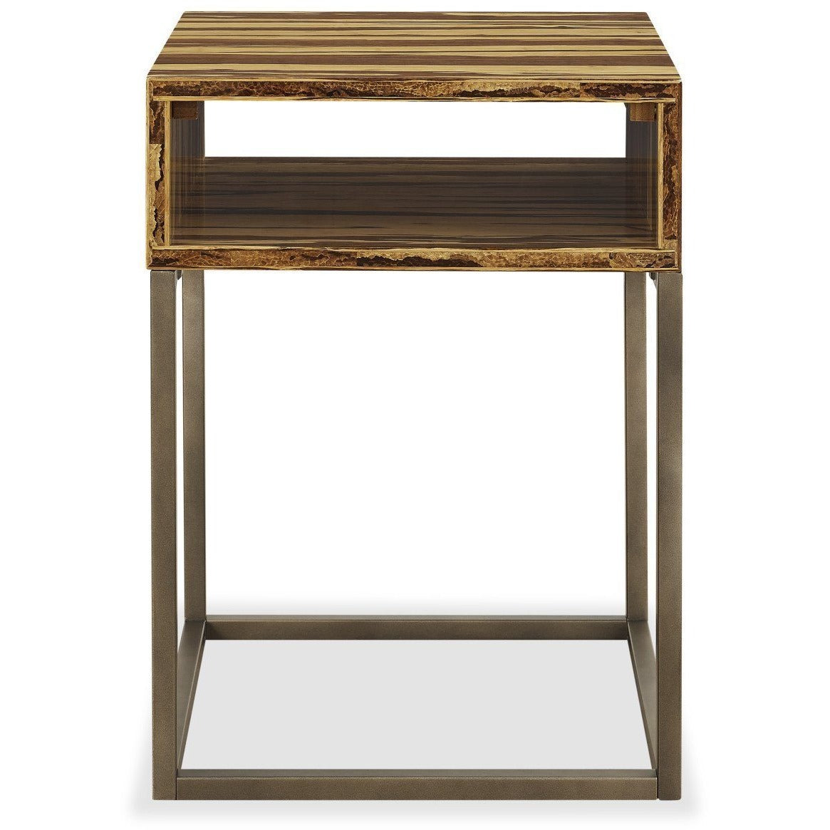 Greenington Modern Bamboo Toronto Solid Exotic Tiger Bamboo End table G0059T