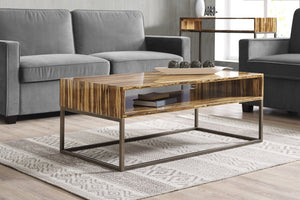 Greenington Modern Bamboo Toronto Solid Exotic Tiger Bamboo Coffee table G0058T