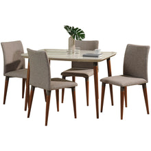 "Manhattan Comfort 5-Piece Charles 45.27"" Dining Set  with 4 Dining Chairs in  Off White and Grey Manhattan Comfort-- - 1"