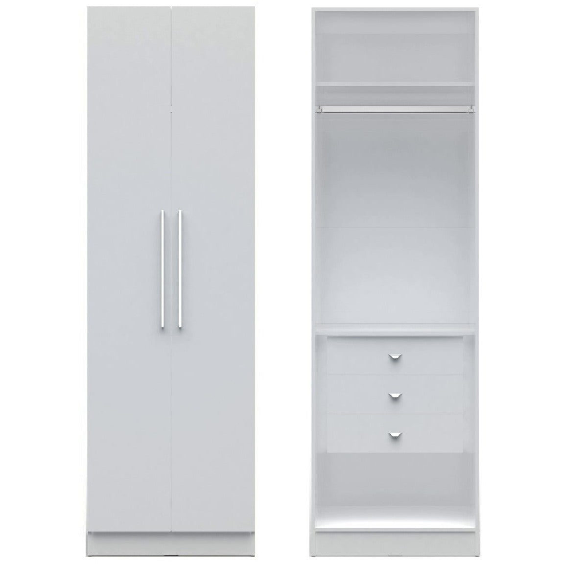 shelves storage x d comforter maple cabinet h alone chelsea rod with manhattan long hanging shop closet cream w wardrobe and collection buy comfort stand