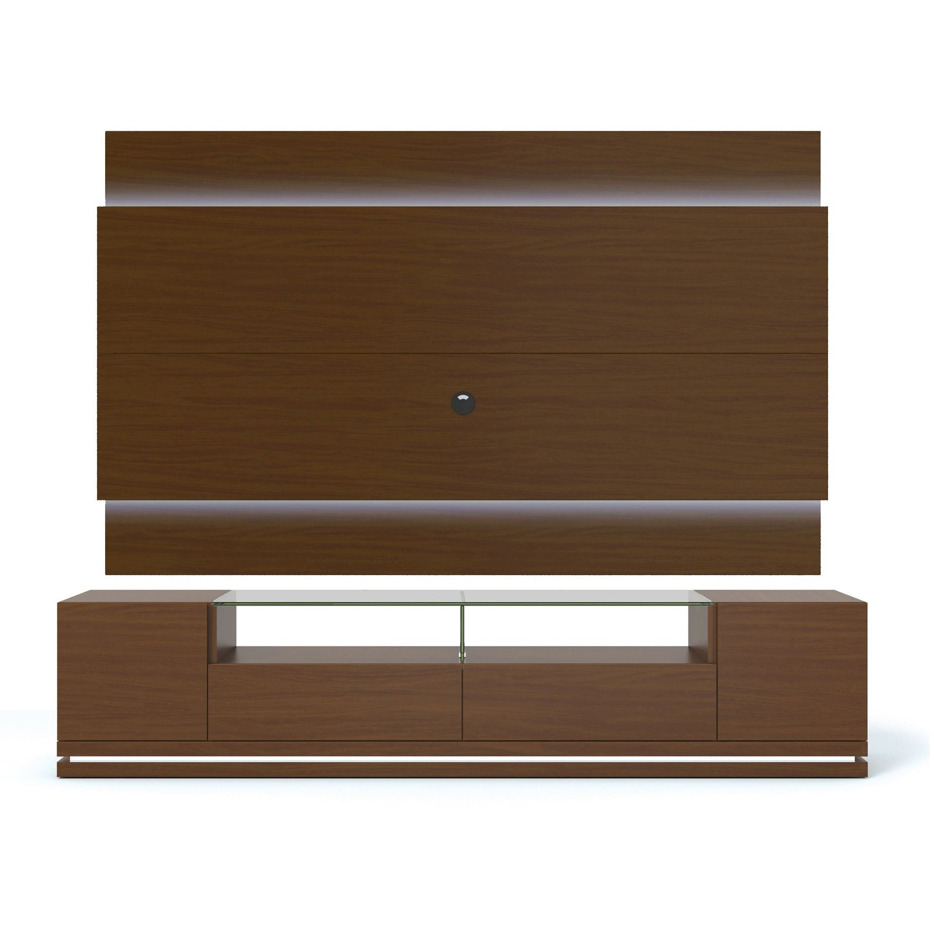 Manhattan Comfort Vanderbilt Tv Stand And Lincoln 2 2 Floating Wall