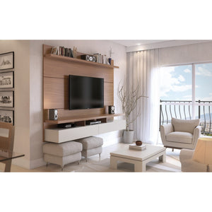 Manhattan Comfort City 1.8 Floating Wall Theater Entertainment Center Maple Cream / Off White, TV Stands - Manhattan Comfort, Minimal & Modern - 1