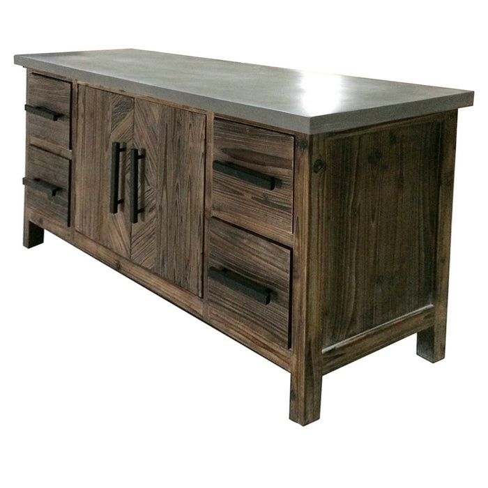 Venezio Faux Cement Top Sideboard 2 Doors by New Pacific Direct - 2100018
