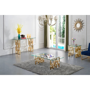 Meridian Furniture Pierre Gold Console Table-Minimal & Modern