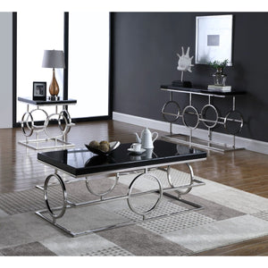 Meridian Furniture Brooke Chrome Console Table-Minimal & Modern