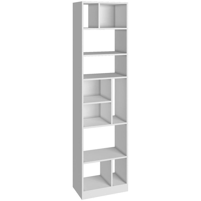 Accentuations by Manhattan Comfort Durable Valenca Bookcase 4.0 with 10- Shelves in WhiteManhattan Comfort-Bookcases - - 1
