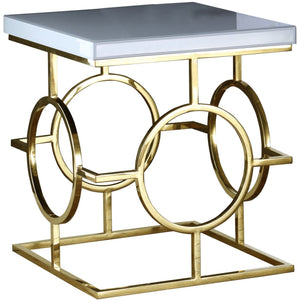 Meridian Furniture Brooke Gold End Table-Minimal & Modern