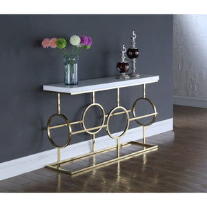 Meridian Furniture Brooke Gold Console Table-Minimal & Modern