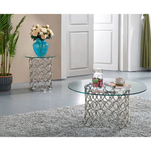 Meridian Furniture Opal Chrome Coffee Table-Minimal & Modern