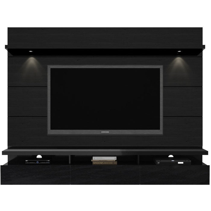 Manhattan Comfort Cabrini 2.2 Theater Entertainment Center Panel Black, TV Stands - Manhattan Comfort, Minimal & Modern - 1