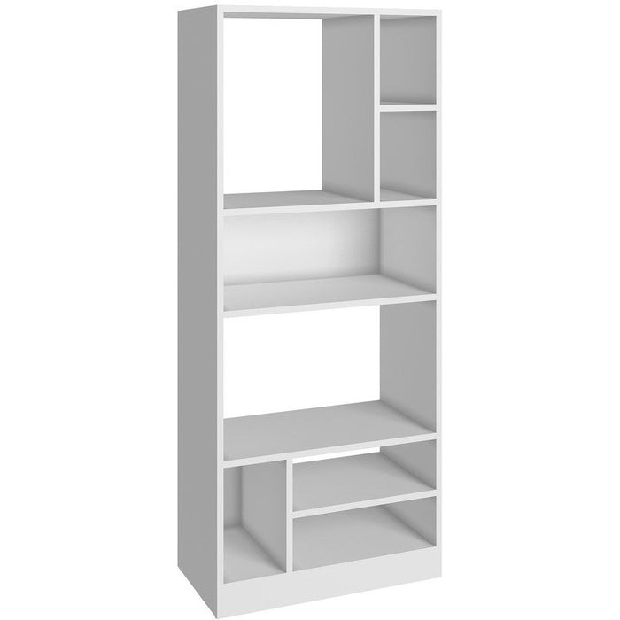 Accentuations by Manhattan Comfort Durable Valenca Bookcase 3.0 with 8- Shelves in WhiteManhattan Comfort-Bookcases - - 1