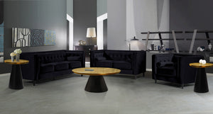 Meridian Furniture Martini Brushed Gold/Matte Black Coffee table