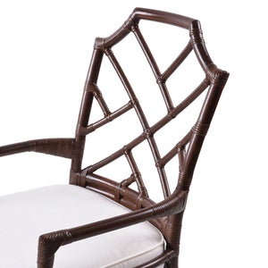 Kara Rattan Arm Chair by New Pacific Direct - 2400028