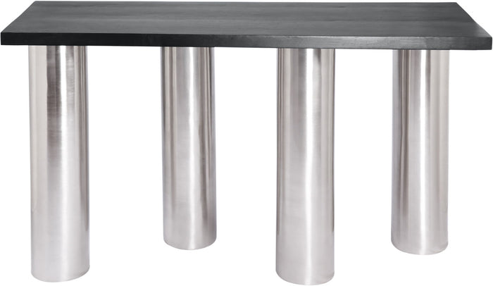 Meridian Furniture Piper Brushed Chrome Console TableMeridian Furniture - Console Table - Minimal And Modern - 1