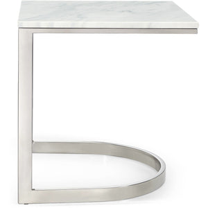 Meridian Furniture Copley Chrome End Table-Minimal & Modern