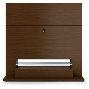 Manhattan Comfort Riverside Freestanding Theater Entertainment Center with LED Lights in Nut Brown,  - Manhattan Comfort - 1