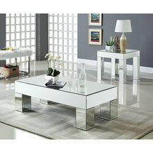 Meridian Furniture Lainy Mirrored End Table-Minimal & Modern
