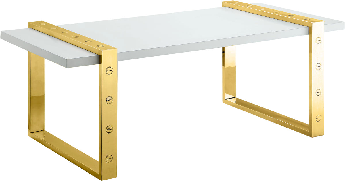Meridian Furniture Amore Gold Coffee TableMeridian Furniture - Coffee Table - Minimal And Modern - 1