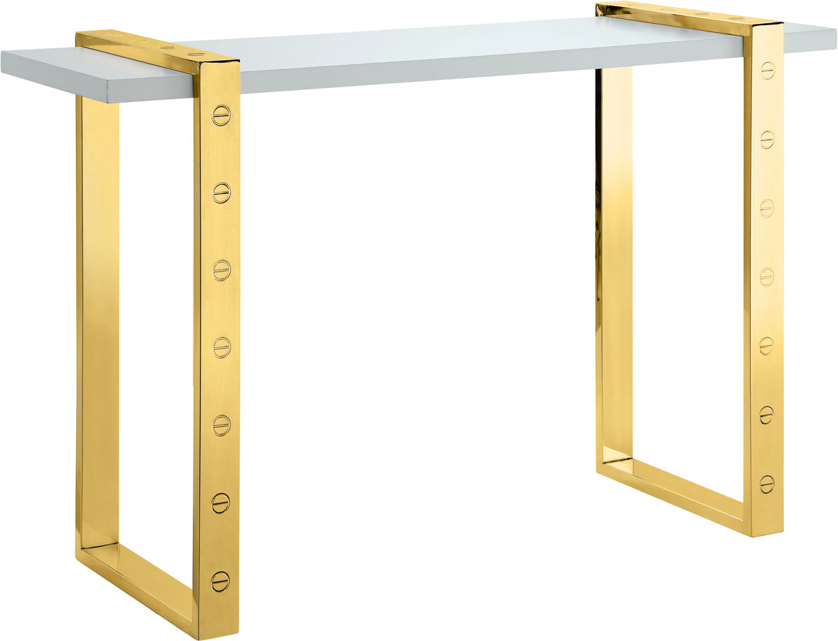 Meridian Furniture Amore Gold Console TableMeridian Furniture - Console Table - Minimal And Modern - 1