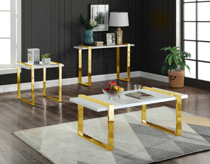 Meridian Furniture Amore Gold Console Table