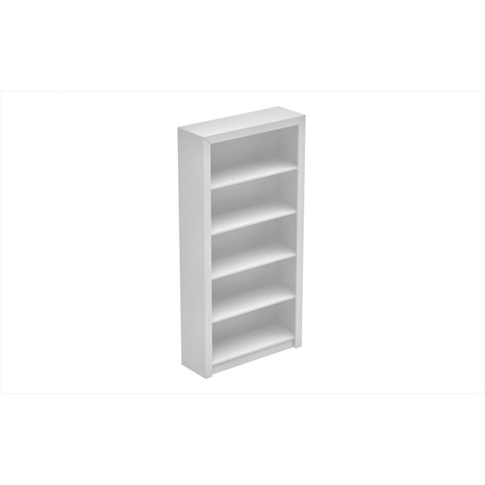 Accentuations by Manhattan Comfort Classic Olinda Bookcase 1.0 with 5-Shelves in WhiteManhattan Comfort-Bookcases - - 1