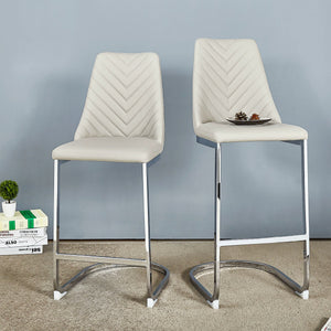 Kyla PU Leather Counter Stool - Set of 2 by New Pacific Direct - 3000021
