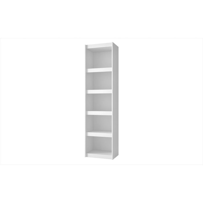 Accentuations by Manhattan Comfort Valuable Parana Bookcase 2.0 with 5-Shelves in White Manhattan Comfort-Bookcases - - 1
