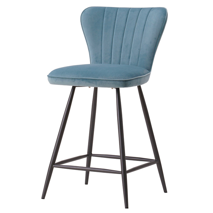 Delphine Velvet Fabric Swivel Counter Stool by New Pacific Direct - 3400034