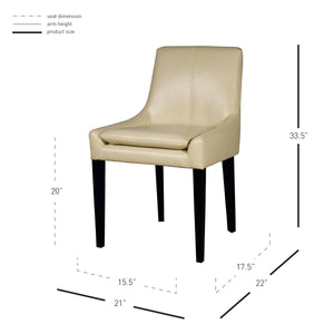 Chase Bonded Leather Chair by New Pacific Direct - 358133B