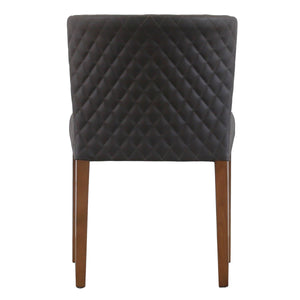 Albie Diamond Stitching PU Leather Chair - Set of 2 by New Pacific Direct - 3900047-401