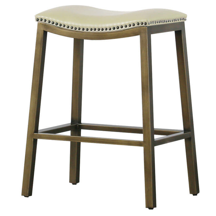 Elmo Bonded Leather Metal Counter Stool by New Pacific Direct - 3900050
