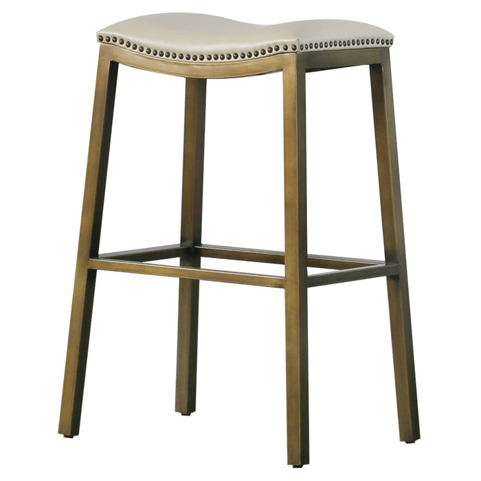 Elmo Bonded Leather Metal Bar Stool by New Pacific Direct - 3900051