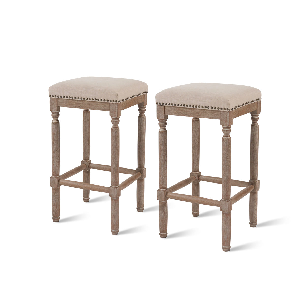 Ernie Fabric Bar Stool - Set of 2 by New Pacific Direct - 3900053-392