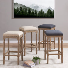 Ernie Fabric Bar Stool - Set of 2 by New Pacific Direct - 3900053-393