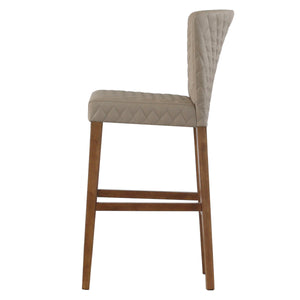 Albie Diamond Stitching PU Leather Bar Stool - Set of 2 by New Pacific Direct - 3900055-343