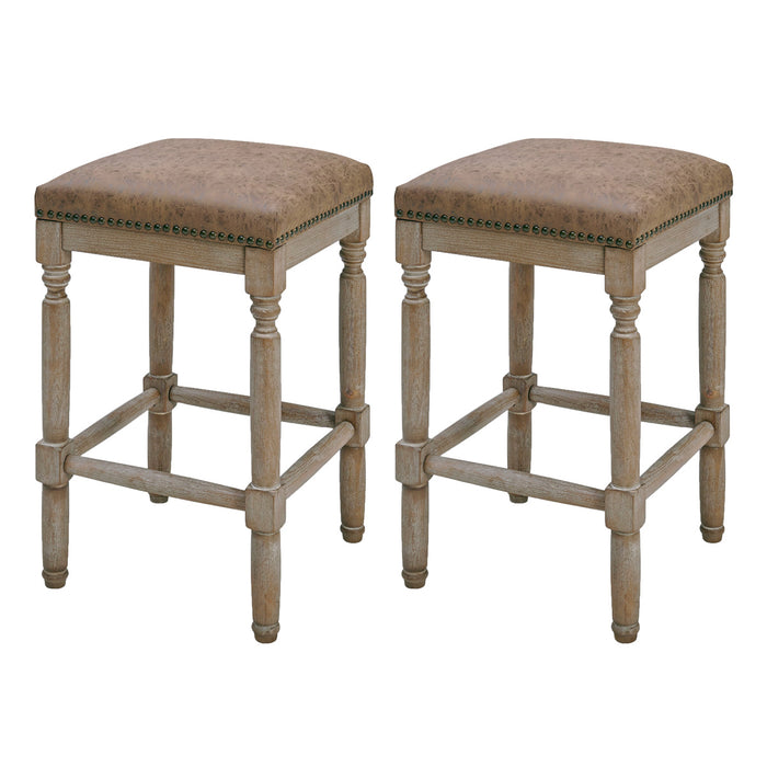 Ernie PU Counter Stool - Set of 2 by New Pacific Direct - 3900056-NCE
