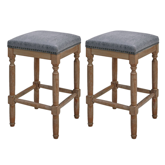 Ernie PU Counter Stool - Set of 2 by New Pacific Direct - 3900056-NCL