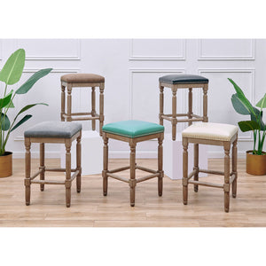 Ernie Bonded Leather Counter Stool - Set of 2 by New Pacific Direct - 3900057-2050