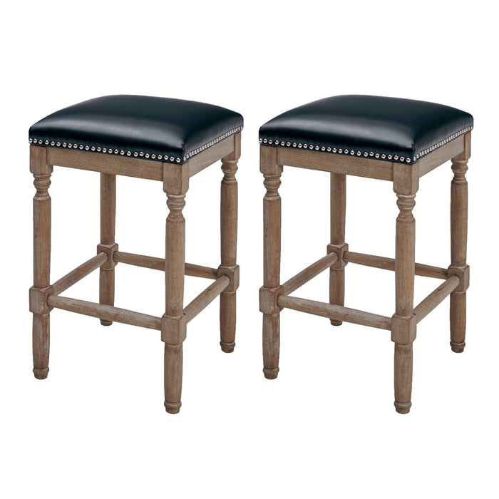 Ernie Bonded Leather Counter Stool - Set of 2 by New Pacific Direct - 3900057-23