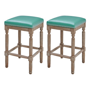 Ernie Bonded Leather Counter Stool - Set of 2 by New Pacific Direct - 3900057-323