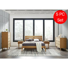 5pc Greenington Sienna Modern Bamboo Eastern King Platform Bedroom Set (Includes: 1 King Bed, 2 Nightstands, 2 Dressers)-Minimal & Modern