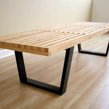 Baxton Studio Nelson Style Wooden Bench-Natural Baxton Studio-benches-Minimal And Modern - 3
