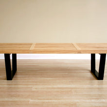 Baxton Studio Nelson Style Wooden Bench-Natural Baxton Studio-benches-Minimal And Modern - 2