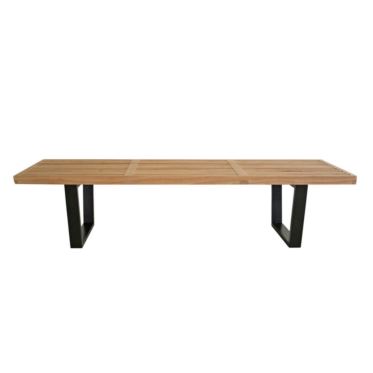Baxton Studio Nelson Style Wooden Bench-Natural Baxton Studio-benches-Minimal And Modern - 1