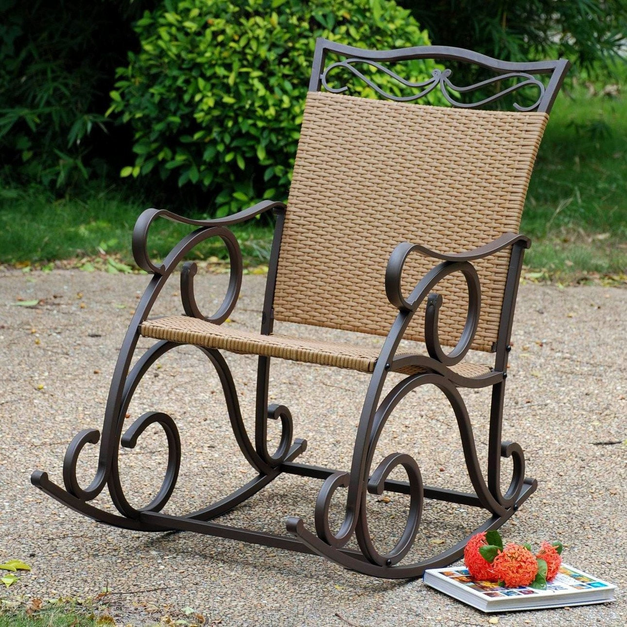 International Caravan Valencia Resin Wicker/Steel Rocker 4104-RKR-Minimal & Modern