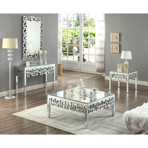 Meridian Furniture Aria Mirrored End Table-Minimal & Modern